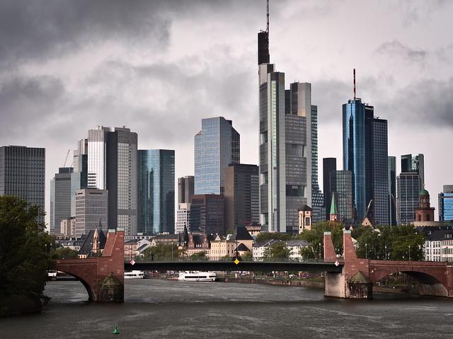 Dark Clouds Over The Skyline Of Frankfurt/Main