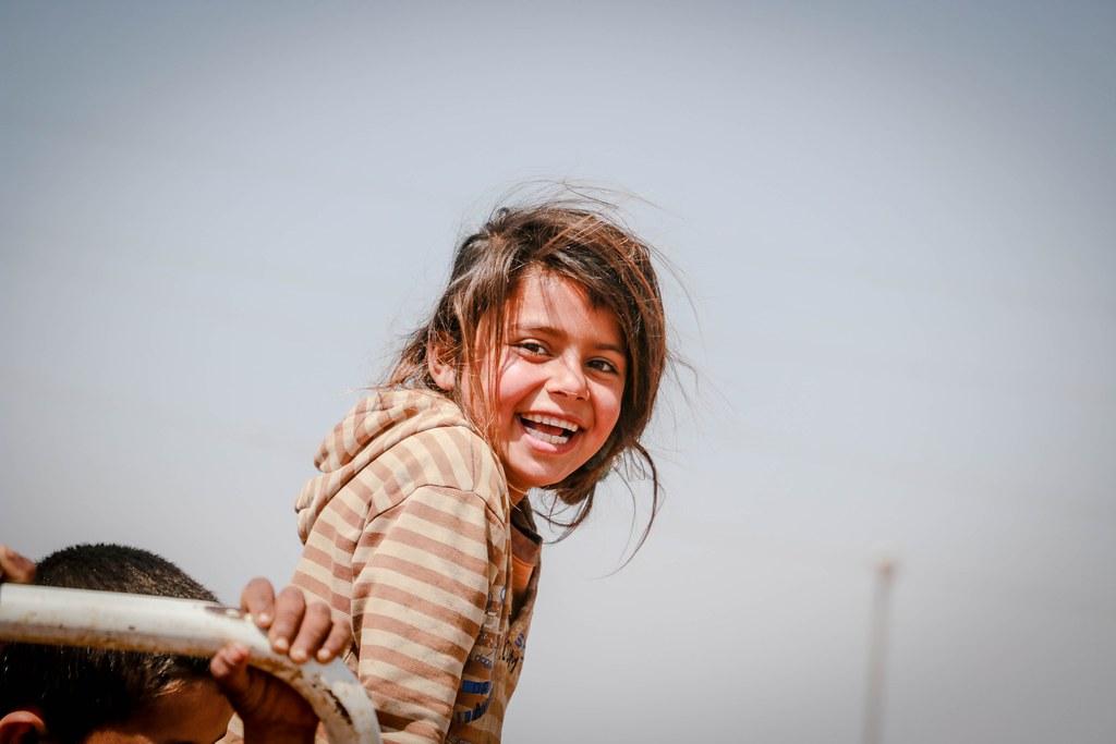 Child in refugee camp