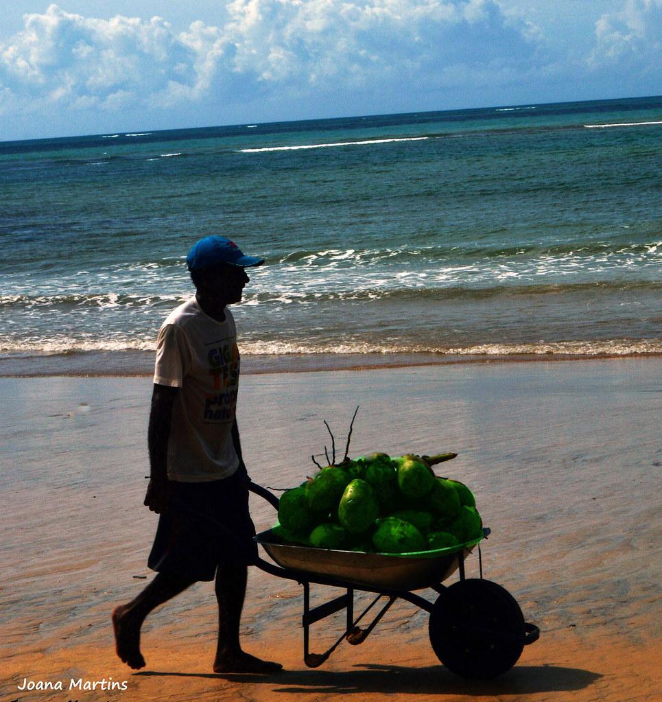 Carrinho coco verde - Praia Santo André - Porto Seguro