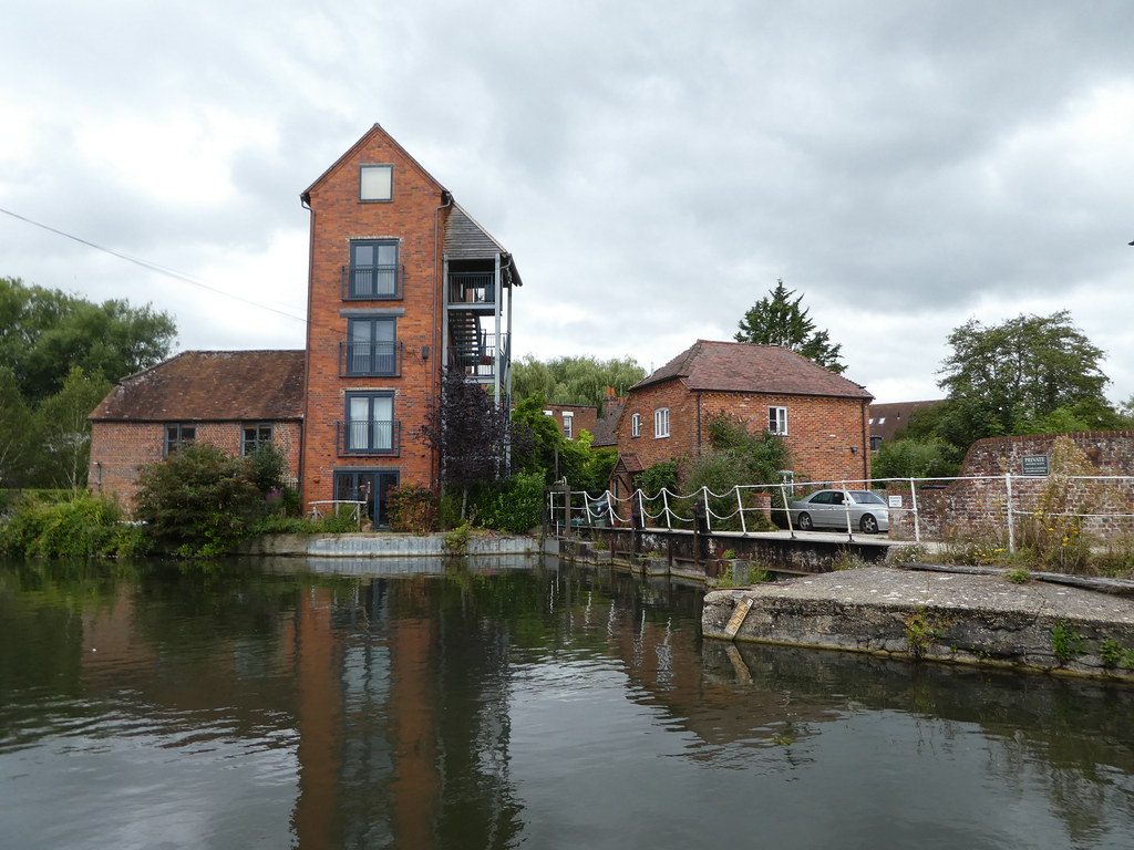West Mills Swing Bridge and Old Water Mill, Newbury