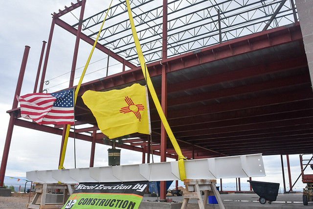 Route 66 Visitors Center Topping Out