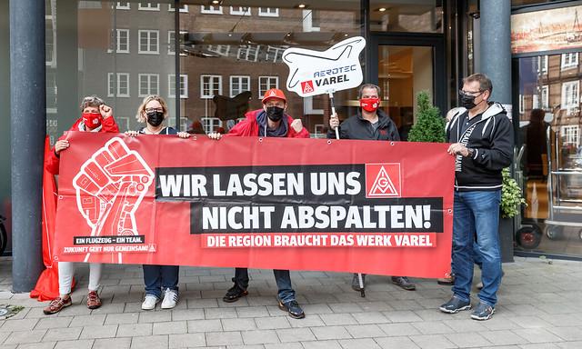 Tarifrunde 2021 bei Airbus und PAG: Protestaktion zum Auftakt