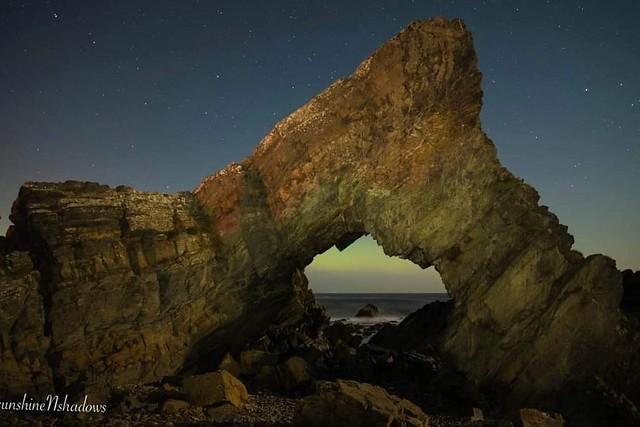 Rock and aurora