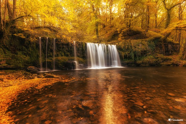 Sgwd Ddwli Uchaf, Brecon Waterfalls