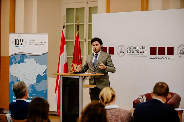 Dritan Abazović -  predavanje na Diplomatskoj akademiji, Beč (01.09.2021.)