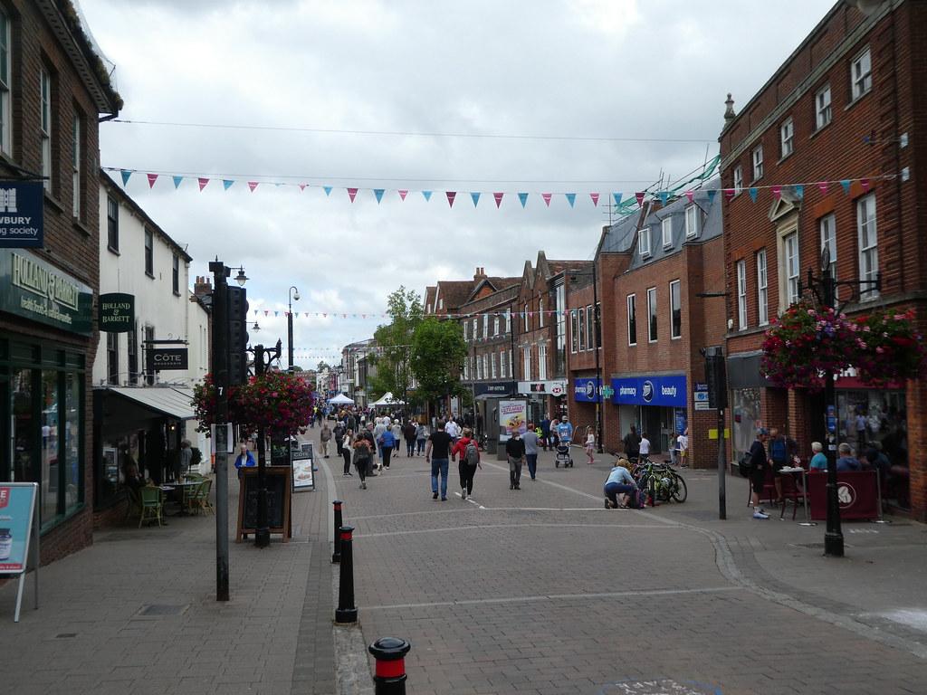 Newbury's high street