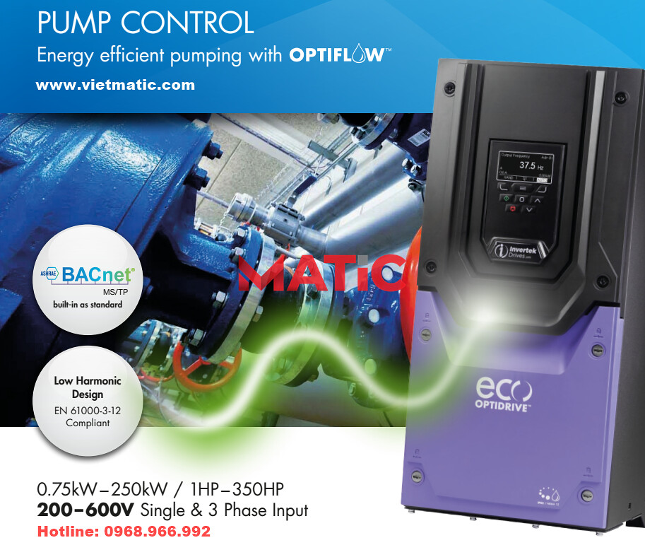 Biến tần Invertek Optidrive ECO Pump | www.vietmatic.com