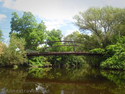 The private bridge over Black Creek near Chili, New York