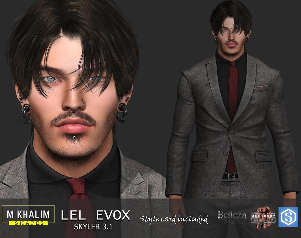 Davi Shape for Lelutka Head Evox Skyler 3.1