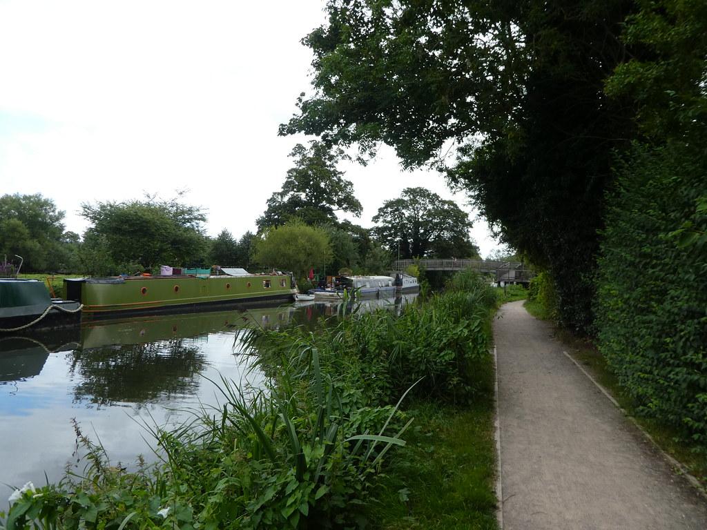 The wooden Monkey Bridge, Newbury