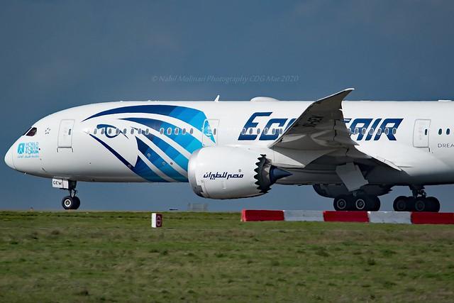 Egyptair SU-GEW Boeing 787-9 Dreamliner cn/65093-885 @ LFPG / CDG 06-03-2020