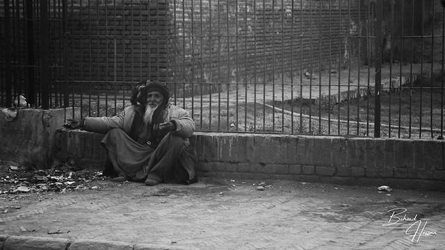A quiet beggar