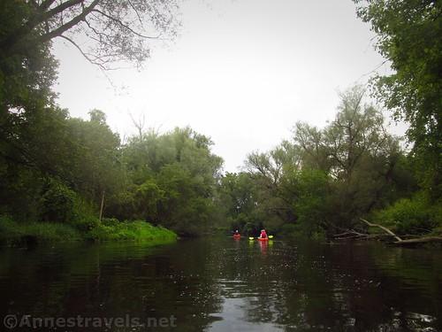 Kayaking down Black Creek, Rochester, New York