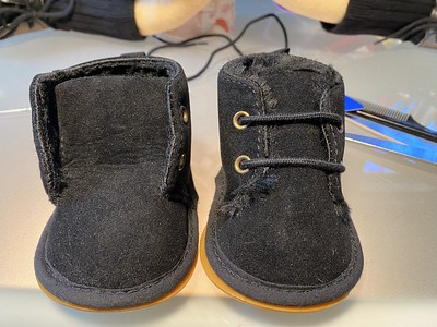 Paul Weller's tiny suede boots