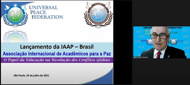 Brazil-2021-07-22-IAAP held the Inauguration Assembly of the Association of Academicians for World Peace in Brazil