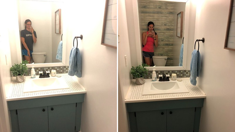 Wallpaper before and after