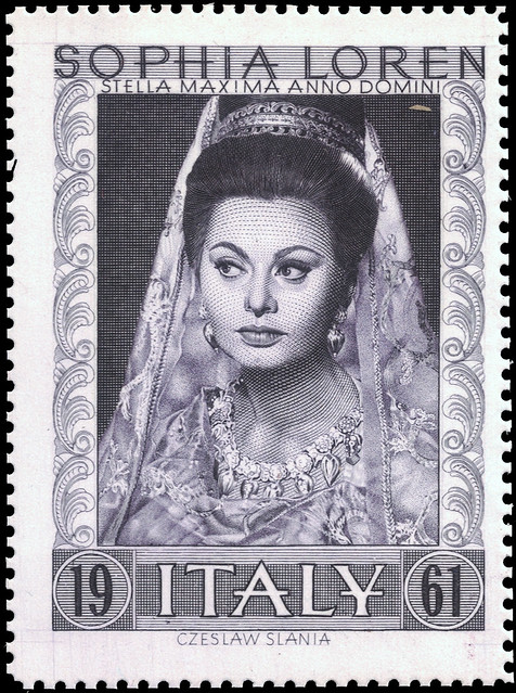 Sophia Loren 1961 by Czesław Słania