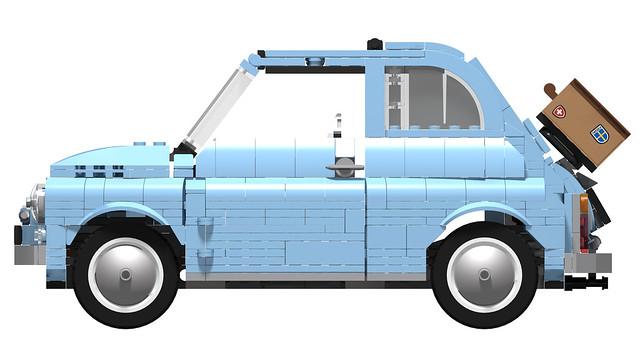 77942 Fiat 500 - Blue Edition