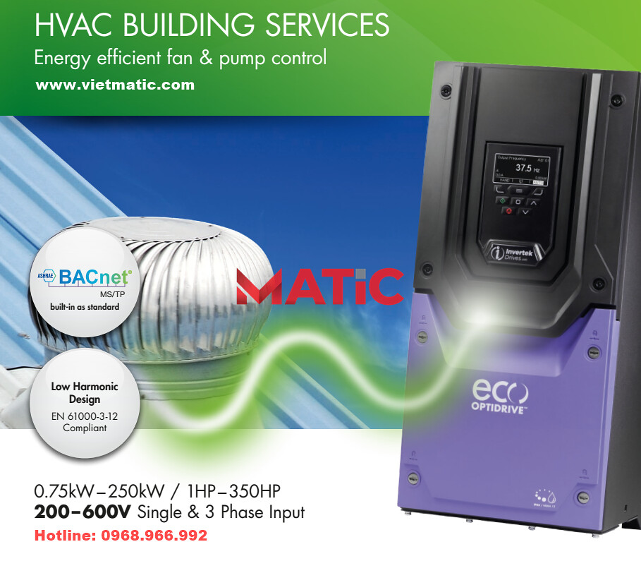 Biến tần Invertek Optidrive Eco HVAC | www.vietmatic.com