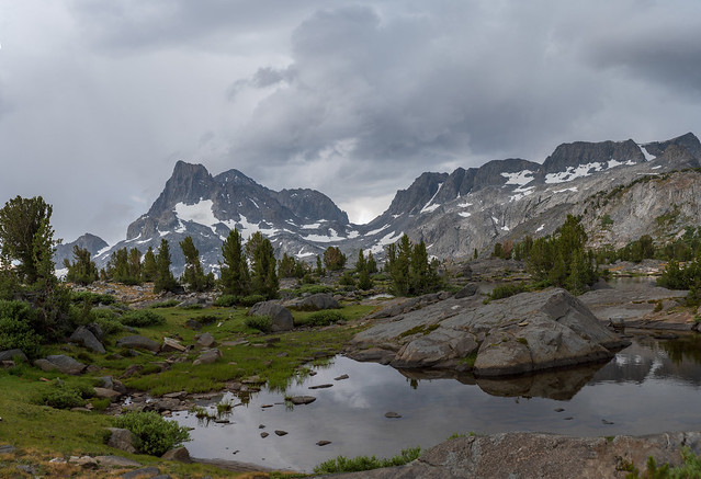 JMT Day 3: Banner Peak from Island Pass