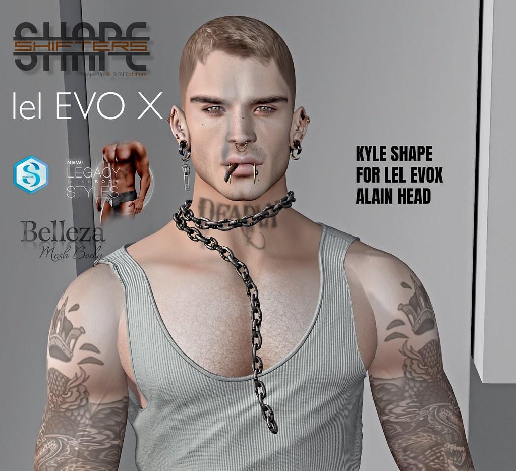 [SHAPEshifters] KYLE SHAPE FOR LELUTKA EVOX HEAD ALAIN