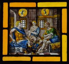 Joseph interpreting dreams (continental, 17th Century)