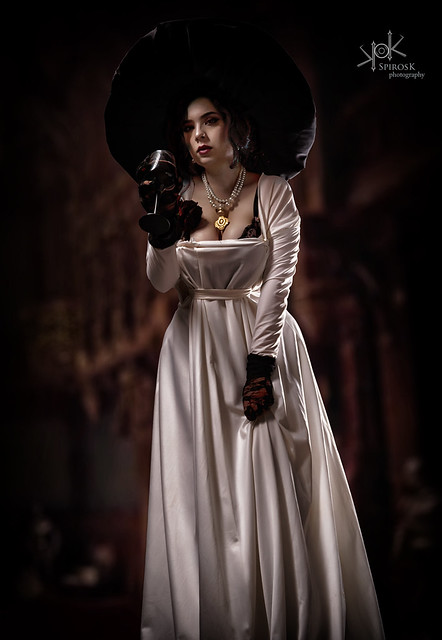 Eva Leexart as Lady Dimitrescu from Resident Evil Village by SpirosK photography (Part I: standing)