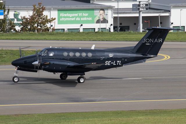 Jonair Affärsflyg Beech B200 Super King Air SE-LTL 210902 BMA