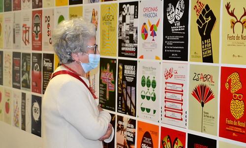 Exposição de cartazes da atividade da Junta de Freguesia, autoria de Paulo Silva