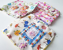 embroidery, gingham and Liberty fabric