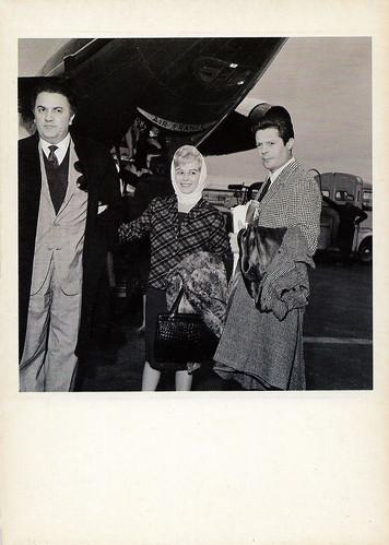 Federico Fellini, Giulietta Massina and Marcello Mastroianni