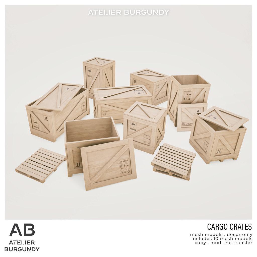 Atelier Burgundy . Cargo Crates
