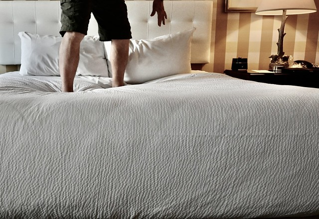 Preparation for Hotel Bed Jumping