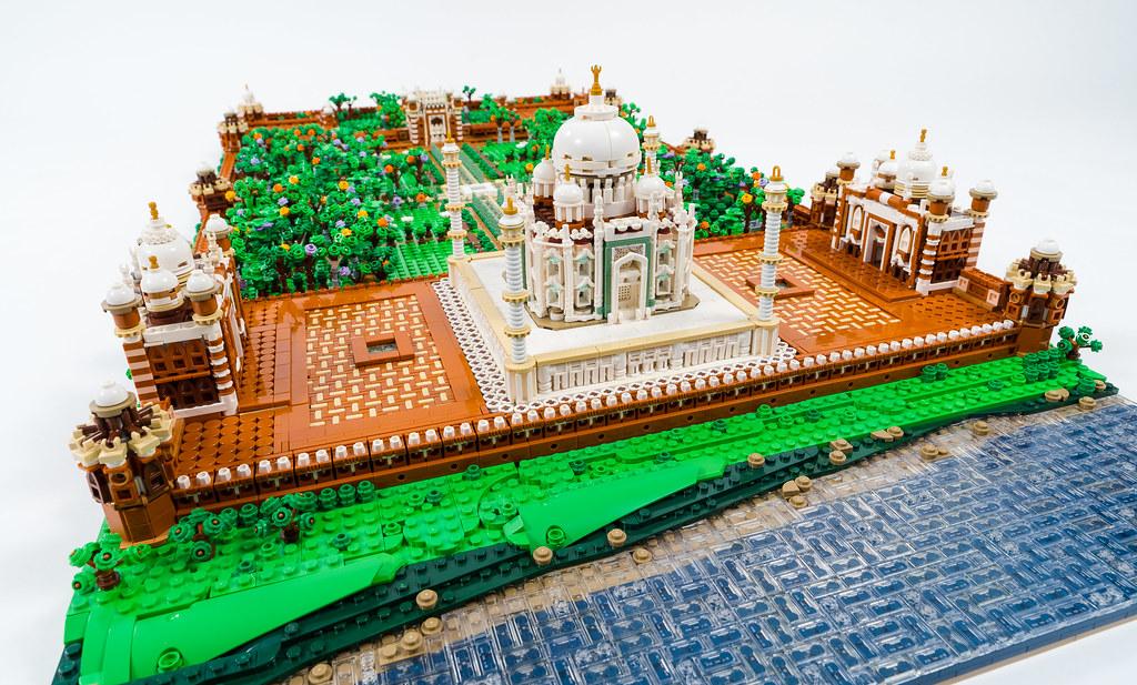 LEGO Taj Mahal diorama