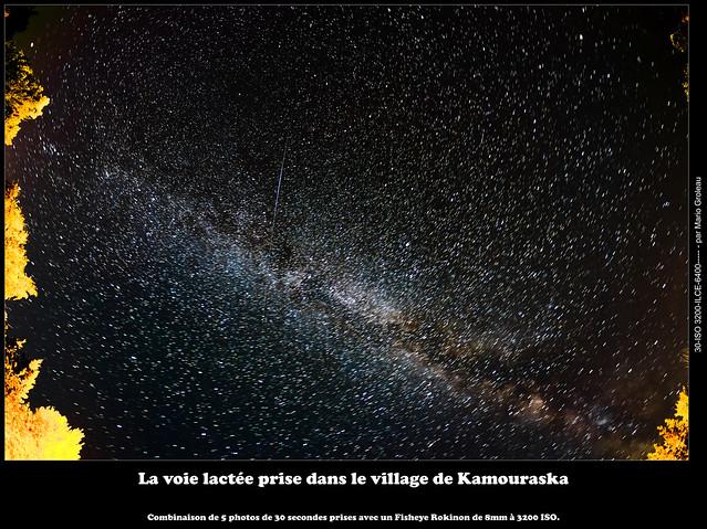 La voie lactée prise dans le village de Kamouraska