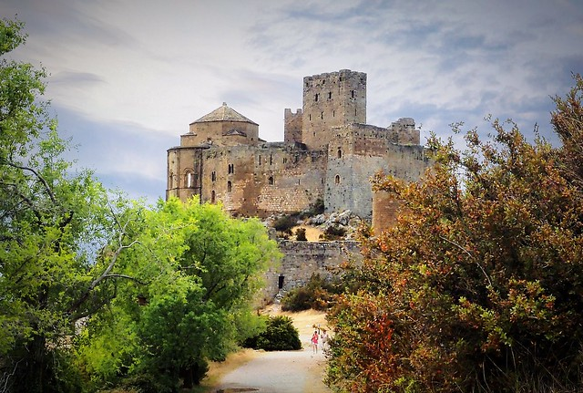 Castle of Loarre (Pyrenees of Huesca) Romanesque 10th century.