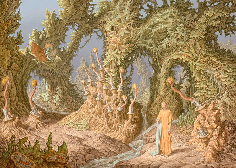 Johfra Bosschart - Ellen in Wonderland 3 - The visit to the forest with the human worms