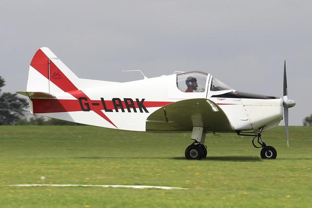 G-LARK  -  Helton Lark 95 c/n 9517  -  EGBK 3/9/21