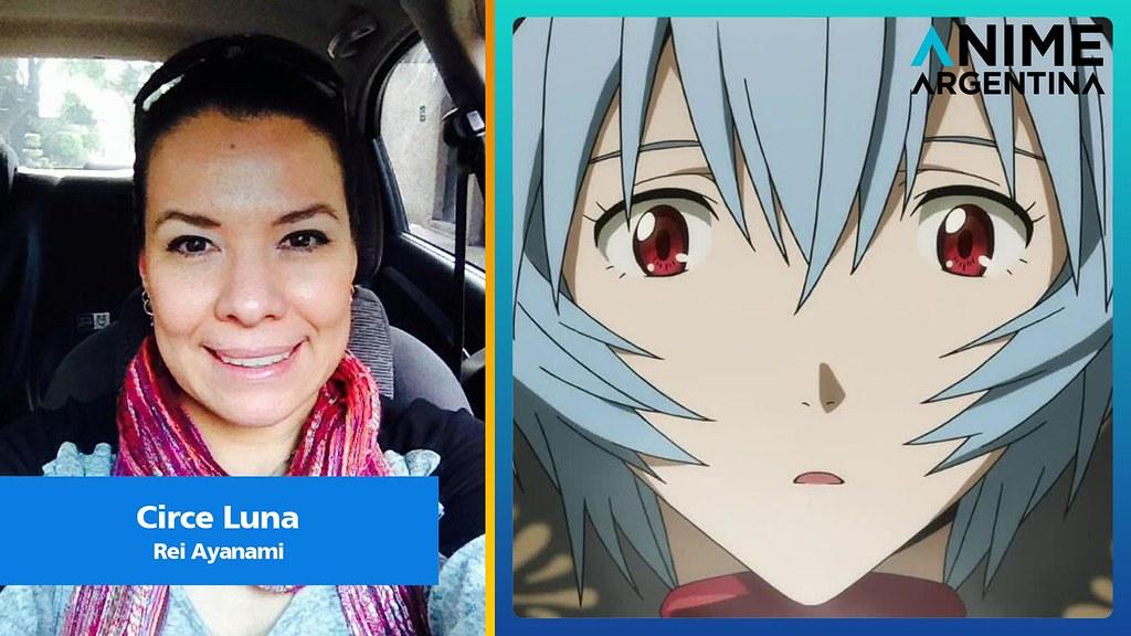 Circe Luna, Rei Ayanami, Evangelion, Doblaje