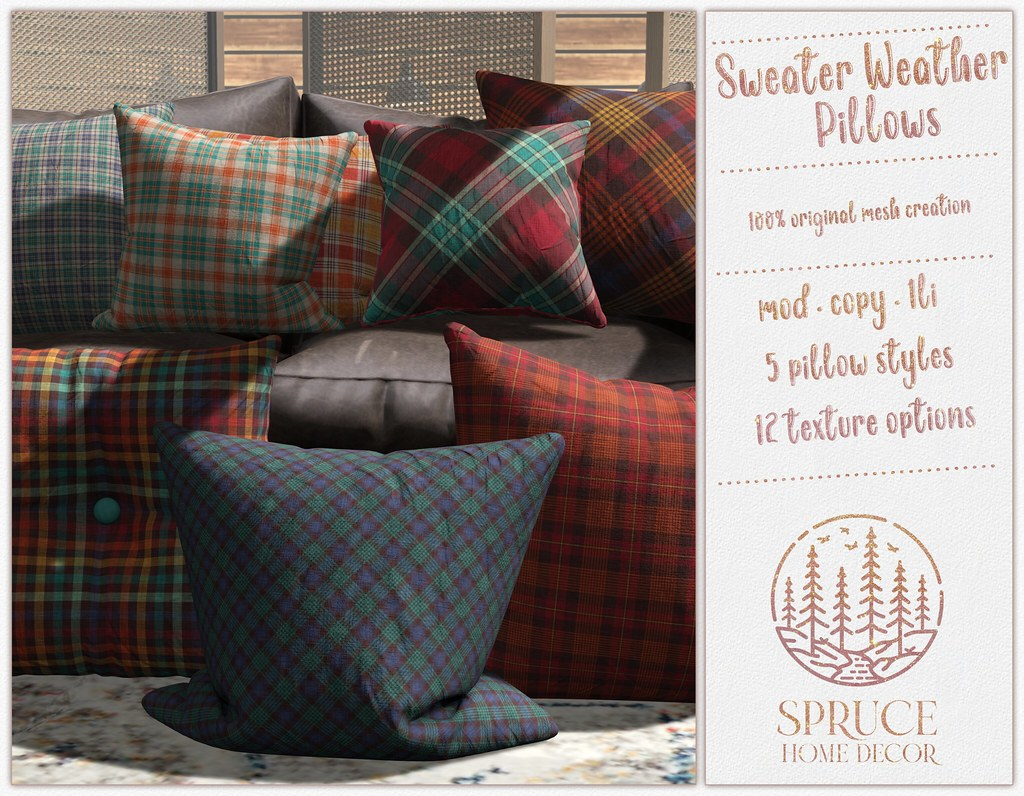 .spruce. sweater weather pillows