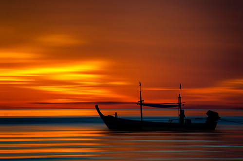 Liquified golden sunrise.