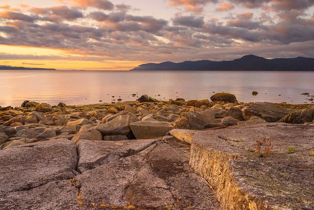 Malaspina Strait sunrise.