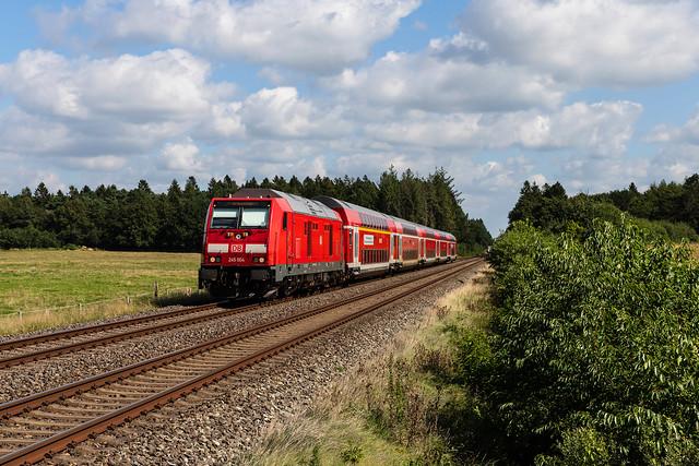 DB 245 004 in St. Michaelisdonn - 01.09.2021