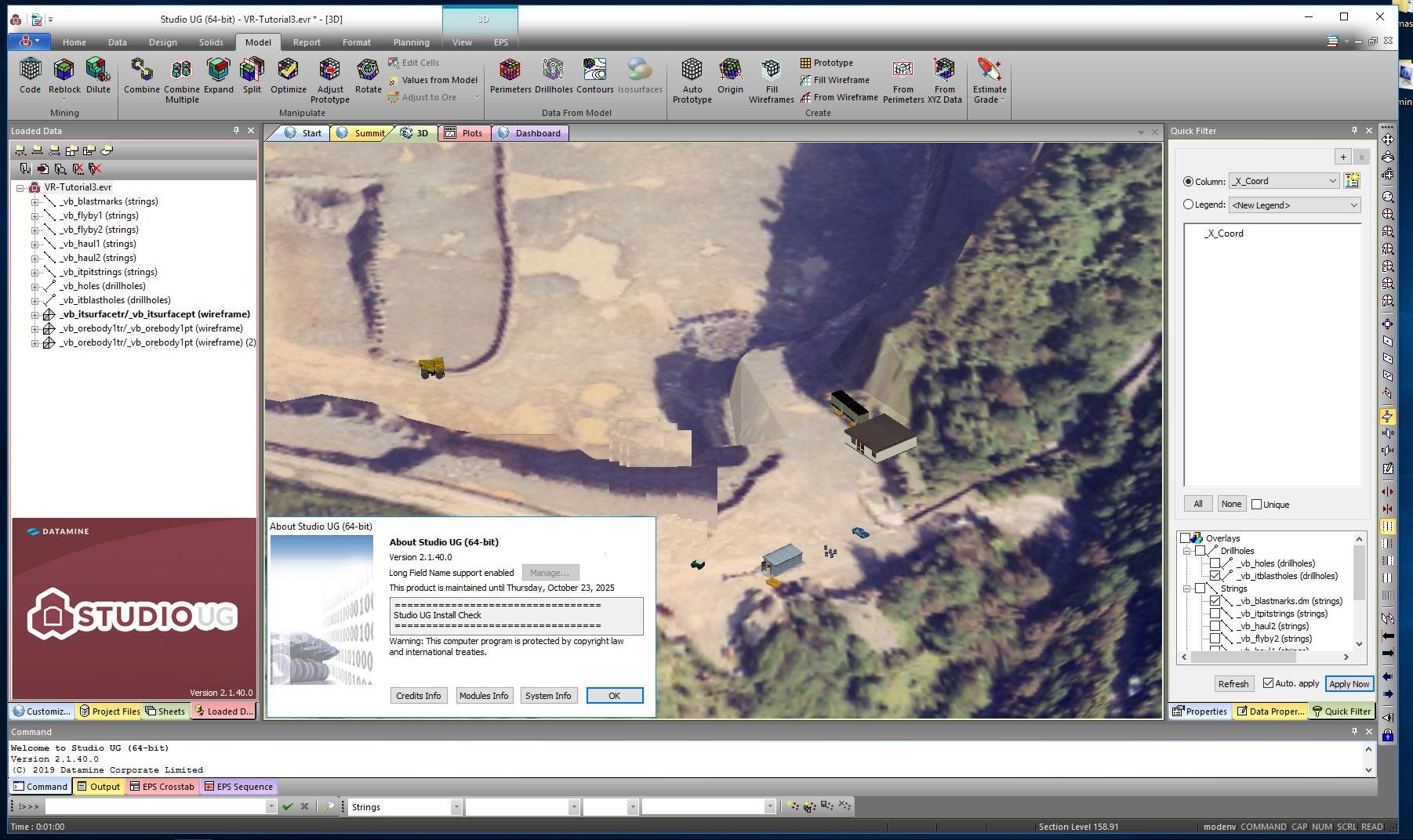 Working with Datamine Studio UG 2.1.40.0 full license