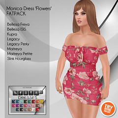 [D2T Designs] Monica Dress #FatPack 'fowers' ADD