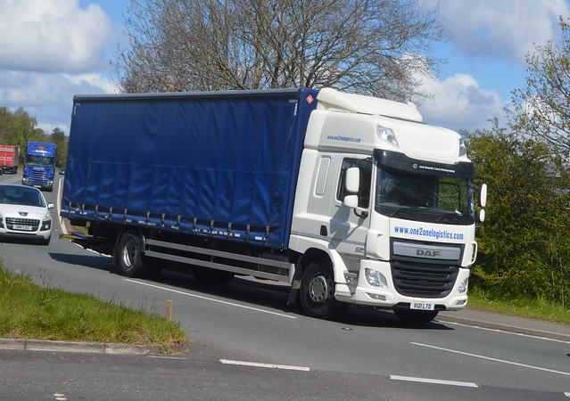 One 2 One Logistics V121 LTD Driving Along the A5 At Oswestry