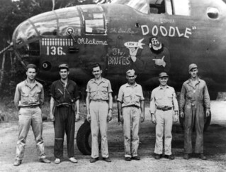 """Crew of the 345th Bomb Group B-25 nicknamed """"DOODLE"""""""
