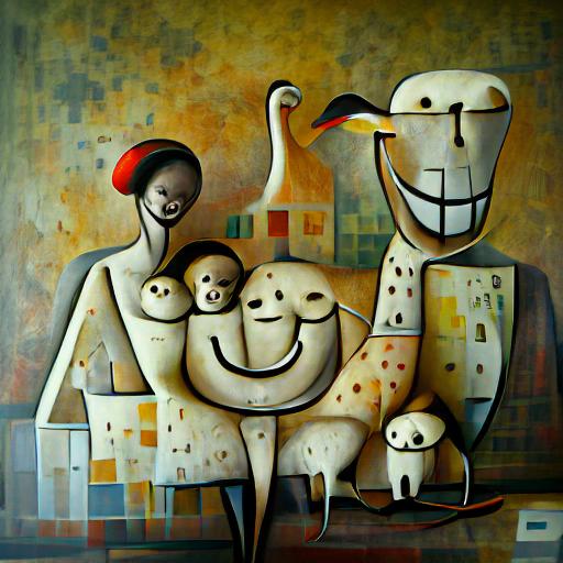 'a happy family by Piet Mondiran' CLIPIT