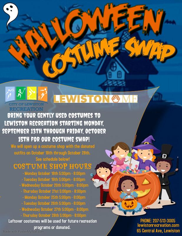 costume swap flyer