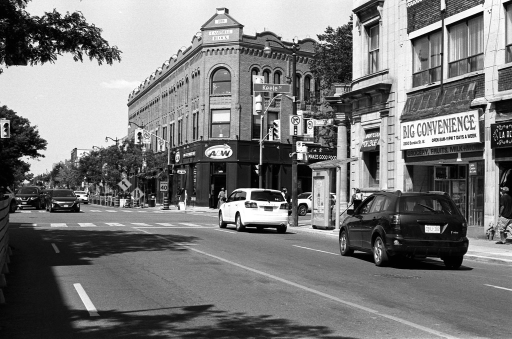 Old Campbell Block in the Background
